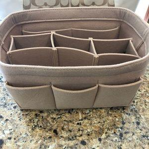 Purse tote XL Beige Insert Protector Organizer bag